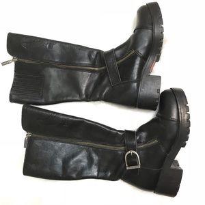 Harley Davidson Dual Zip Tall Motorcycle Boots